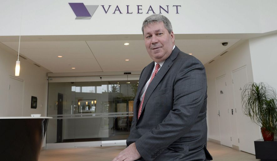 FILE - In this May 19, 2015 file photo, Valeant Pharmaceuticals CEO Michael Pearson poses at the company's annual general meeting in Montreal. ON Wednesday, April 13, 2016, Pearson agreed to be deposed by a Senate committee investigating soaring prescription medicine prices. Valeant is one of the companies targeted in the Senate probe of drug prices. (Ryan Remiorz/The Canadian Press via AP, File)   MANDATORY CREDIT