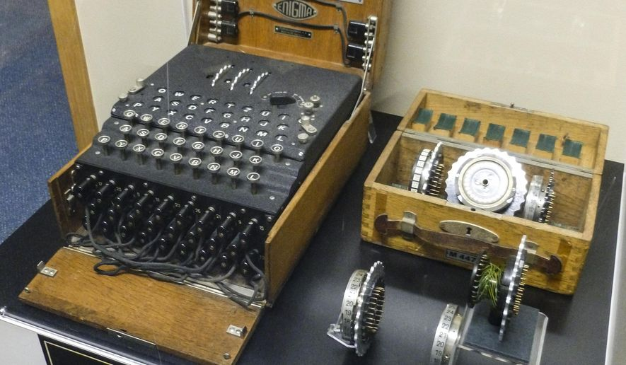 The American Computer Museum in Bozeman has acquired an Enigma machine, seen here on Monday, April 11, 2016, in Bozeman, Mont., which was used by the German army to encrypt messages during World War II, and will be exhibited as part of its collection. (Gail Schontzler/Bozeman Daily Chronicle via AP)