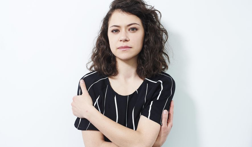 """In this March 31, 2016 photo, actress Tatiana Maslany poses for a portrait in promotion of her  BBC America series, """"Orphan Black,"""" in New York. The show returns for its fourth season Thursday, April 14, at 10 p.m. EDT (Photo by Scott Gries/Invision/AP)"""