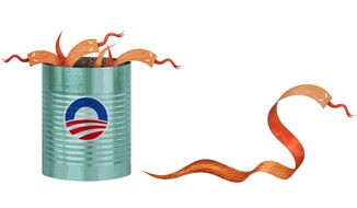 Red Tape-worm Illustration by Greg Groesch/The Washington Times