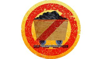 Destruction of the Coal Industry Illustration by Greg Groesch/The Washington Times