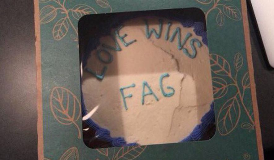 In accusing Whole Foods of frosting a cake with a gay slur, Texas pastor Jordan Brown broke a trend of dubious hate crime accusations that had met little skepticism from the mainstream media. (@PasJordanBrown) ** FILE **