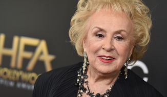 Doris Roberts arrives at the Hollywood Film Awards at the Beverly Hilton Hotel on Sunday, Nov. 1, 2015, in Beverly Hills, Calif. (Associated Press)
