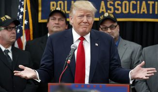 Republican presidential candidate, Donald Trump reacts to a question as he speaks at a campaign rally Sunday, April 17, 2016, in Staten Island, N.Y. (AP Photo/Mel Evans)