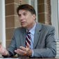 North Carolina Gov. Pat McCrory last month signed into law HB2, which prohibits people from using public facilities intended for the opposite sex. The law says public facilities such as bathrooms or showers should be segregated on the basis of biological sex, not gender identity. (Associated Press) ** FILE **