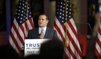 Republican presidential candidate, Sen. Ted Cruz, R-Texas, speaks during a campaign stop, Tuesday, April 19, 2016, in Philadelphia. (AP Photo/Matt Rourke)