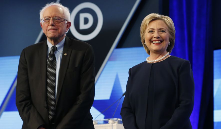Hillary Clinton and Sen. Bernard Sanders are locked in a tight race in New York, with the contest too close to call after polls closed at 9 p.m. (Associated Press)