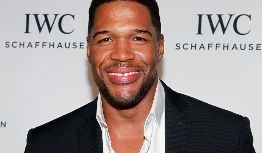 """FILE - In this April 14, 2016 file photo, Michael Strahan attends IWC's """"For the Love of Cinema"""" event during the 2016 Tribeca Film Festival in New York. Strahan is leaving, """"Live! With Kelly and Michael,"""" the daily talk show he co-hosts with Kelly Ripa to work full-time on """"Good Morning America."""" ABC said Tuesday, April 19, that a search for Strahan's replacement will begin in the fall. (Photo by Donald Traill/Invision/AP, File)"""
