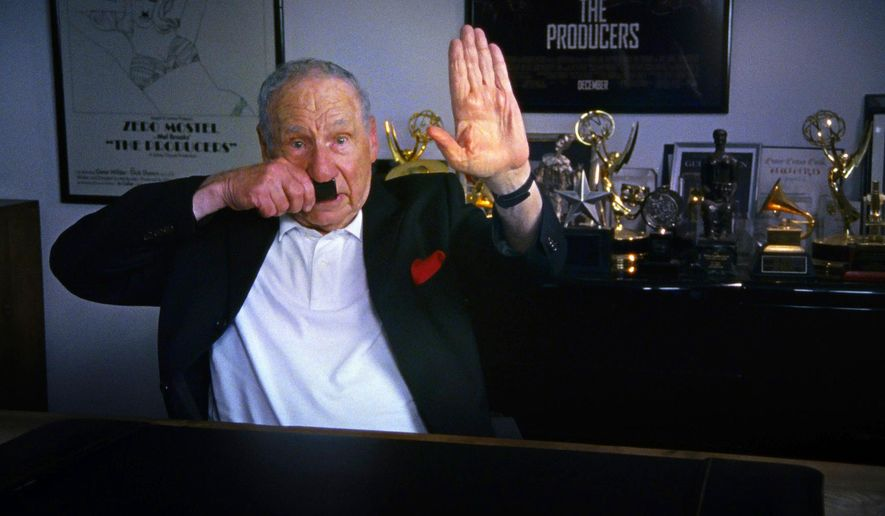 """This image released by the Tribeca Film Festival shows Mel Brooks in a scene from the documentary, """"The Last Laugh,"""" a film about humor and the holocaust, being shown at the Tribeca Film Festival. (Tribeca Film Festival via AP)"""
