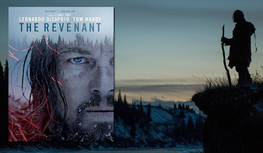 "Leonardo DiCaprio stars in The Revenant,"" now available on Blu-ray from 20th Century Fox Home Entertainment."
