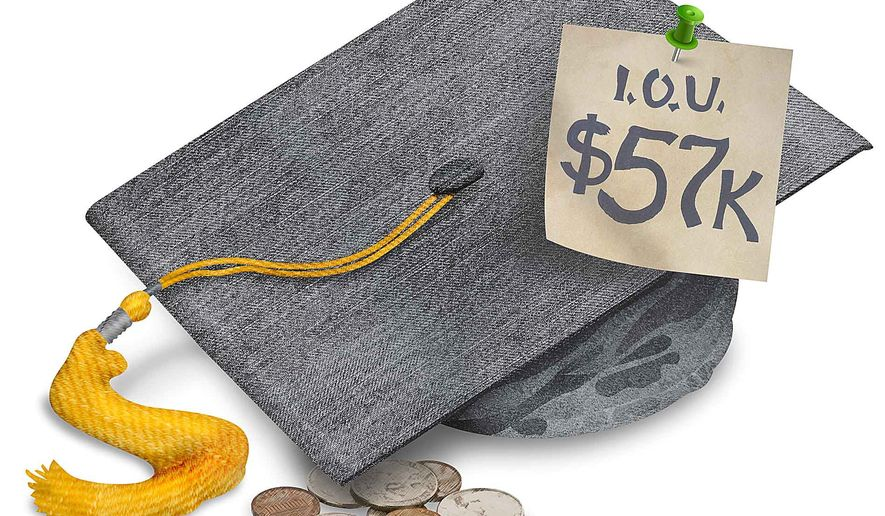 Student Debt Crisis Illustration by Greg Groesch/The Washington Times