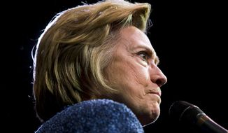 Democratic presidential candidate Hillary Clinton speaks during a campaign stop, Wednesday, April 20, 2016, in Philadelphia. (AP Photo/Matt Rourke)
