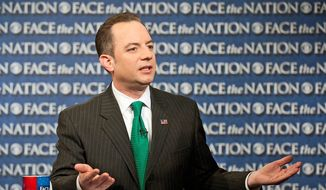 """Looking back at the 2012 election, Republican National Committee Chairman Reince Priebus concluded, """"Our message was weak, our ground game was insufficient, we weren't inclusive, we were behind in both data and digital, our primary and debate process needed improvement."""" (CBS News via Associated Press)"""
