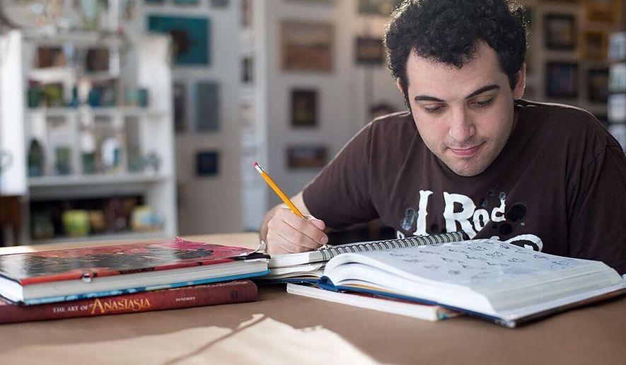 "This image released by the Tribeca Film Festival shows Owen Suskind in a scene from the documentary, ""Life, Animated,"" being shown at the Tribeca Film Festival. (Tribeca Film Festival via AP)"