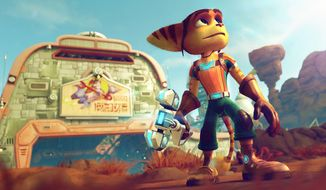 "A lowly Lombax looks to the stars for liberation and an adventure in the third person shooter ""Ratchet and Clank."""