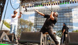 De La Soul, a hip-hop trio known for its progressive music and socially conscious lyrics, will headline the National Cannabis Festival. (Associated Press)