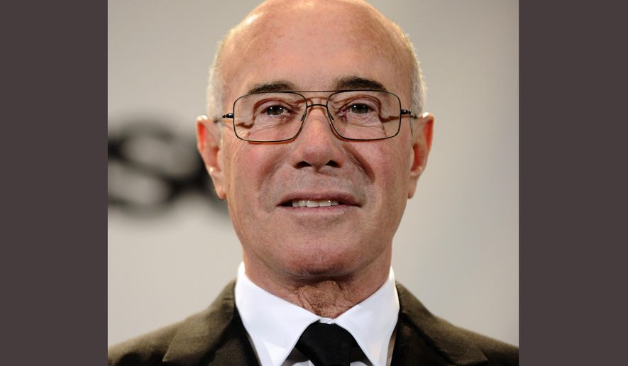 FILE - In this March 15, 2010 file photo, David Geffen, one of the winners of the Ahmet Ertegun Award, appears in the press room at the Rock & Roll Hall of Fame induction ceremony in New York. New York's Museum of Modern Art says it has received a $100 million gift from entertainment executive and philanthropist David Geffen. MoMA said Thursday, April 21, 2016, that the money will be used for its renovation and expansion. (AP Photo/Peter Kramer, File)