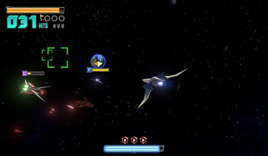 "This image released by Nintendo shows a scene from ""Star Fox Zero,"" for the Wii U. (Nintendo via AP)"