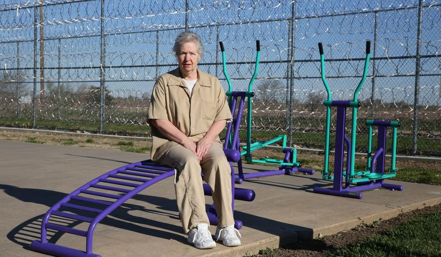Wilma Castor is photographed on April 8, 2016 at the Nebraska Correctional Center for Women in York, Neb. Castor, 67, is the oldest inmate and is serving a life sentence for first degree murder and a number of lesser charges.  (Steve Mosele/The York News-Times via AP) MANDATORY CREDIT