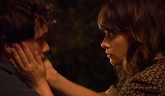 """Anton Yelchin (left) in a scene from """"The Driftless Area"""" with Zooey Deschanel.  (Yahoo.com)"""