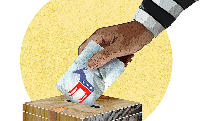 The Felon Vote in Virginia Illustration by Greg Groesch/The Washington Times