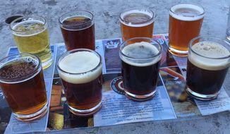 A beer sampler at Granite City Food & Brewery.  (Eric Althoff)