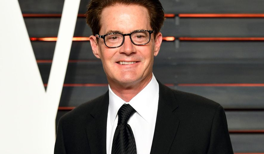"""FILE - In this Feb. 28, 2016 file photo, actor Kyle MacLachlan arrives at the Vanity Fair Oscar Party in Beverly Hills, Calif. Showtime announced the cast for the reboot of the offbeat series """"Twin Peaks,"""" which will star original cast member MacLachlan. The channel released a complete cast list Monday, April 25, includes Naomi Watts, Richard Chamberlain, Jim Belushi, Michael Cera and Amanda Seyfried. (Photo by Evan Agostini/Invision/AP, File)"""