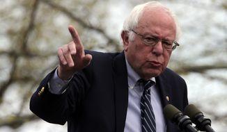 The Associated Press called Rhode Island for Sen. Bernard Sanders at 9:11 p.m. EST on Tuesday night. (Associated Press)