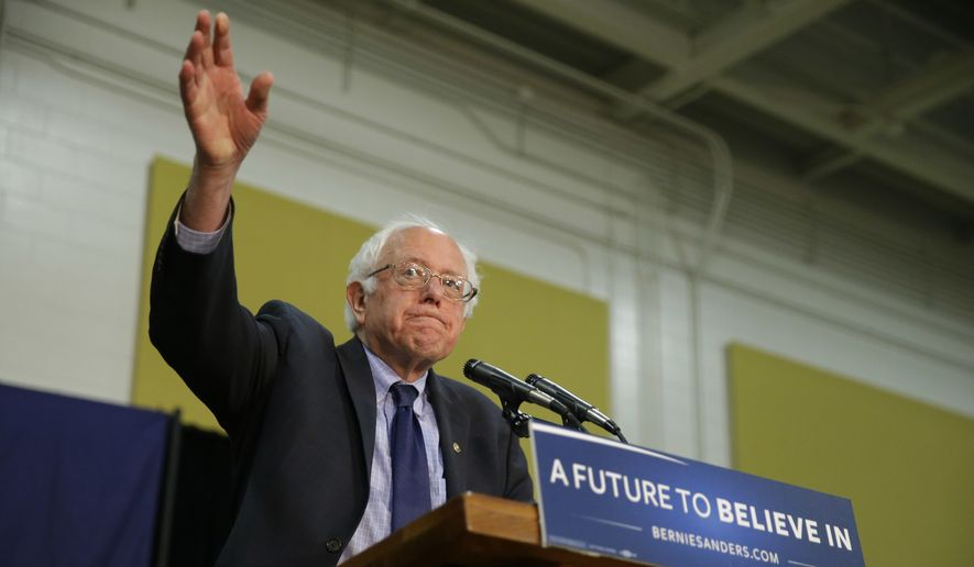 Democratic presidential candidate, Sen. Bernie Sanders, I-Vt. speaks during a rally at Purdue University in West Lafayette, Ind., Wednesday, April 27, 2016. (AP Photo/Michael Conroy)