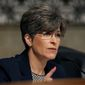 "Sen. Joni Ernst, Iowa Republican, co-spearheaded the Campus Accountability and Safety Act, which is being billed as a bipartisan response to rape on campuses but is drawing doubts by critics over the matter of ""accountability and safety"" for the accused. (Associated press)"