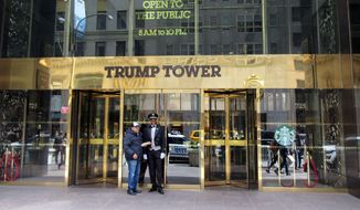 Republican presidential candidate Donald Trump lives and works in Trump Tower. (Associated Press)