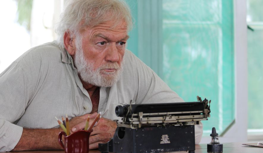"This image released by Yari Film group shows Adrian Sparks as Ernest Hemingway in a scene from the film, ""Papa: Hemingway in Cuba."" The film is the first full-length Hollywood feature filmed on the island since the 1959 Cuban Revolution. (Yari Film Group via AP)"