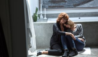 "This image released by Sony Pictures Classics shows Susan Sarandon, left, and Rose Byrne in a scene from ""The Meddler."" (Sony Pictures Classics via AP)"