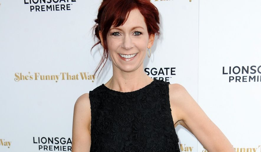 "FILE - In this Aug. 19, 2015 file photo, actress Carrie Preston arrives at the LA Premiere of ""She's Funny That Way"" in Los Angeles. Preston stars in the comedy, ""Crowded,"" airing Sundays on NBC. (Photo by Richard Shotwell/Invision/AP, File)"