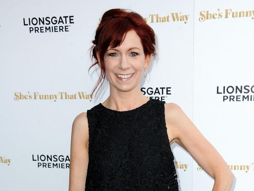 """FILE - In this Aug. 19, 2015 file photo, actress Carrie Preston arrives at the LA Premiere of """"She's Funny That Way"""" in Los Angeles. Preston stars in the comedy, """"Crowded,"""" airing Sundays on NBC. (Photo by Richard Shotwell/Invision/AP, File)"""