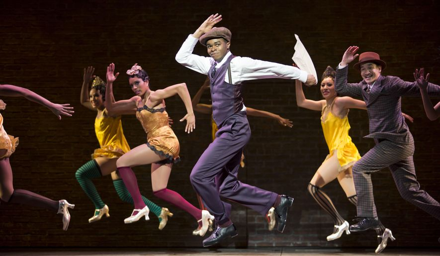 """This image released by Philip Rinaldi Publicity shows the ensemble during a performance of """"Shuffle Along, Or the Making of the Musical Sensation of 1921 and All That Followed"""" at The Music Box Theatre in New York. (Julieta Cervantes/Philip Rinaldi Publicity via AP)"""