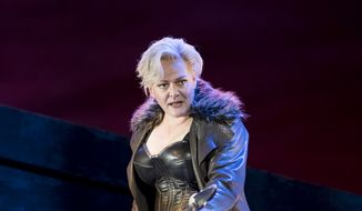 "Catherine Foster as Brunnhilde in ""The Valkyrie.""  (Scott Suchman)"