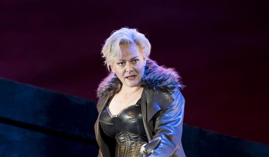 "Catherine Foster as Brunnhilde in ""The Valkyrie.""  (Scott Suchman)"