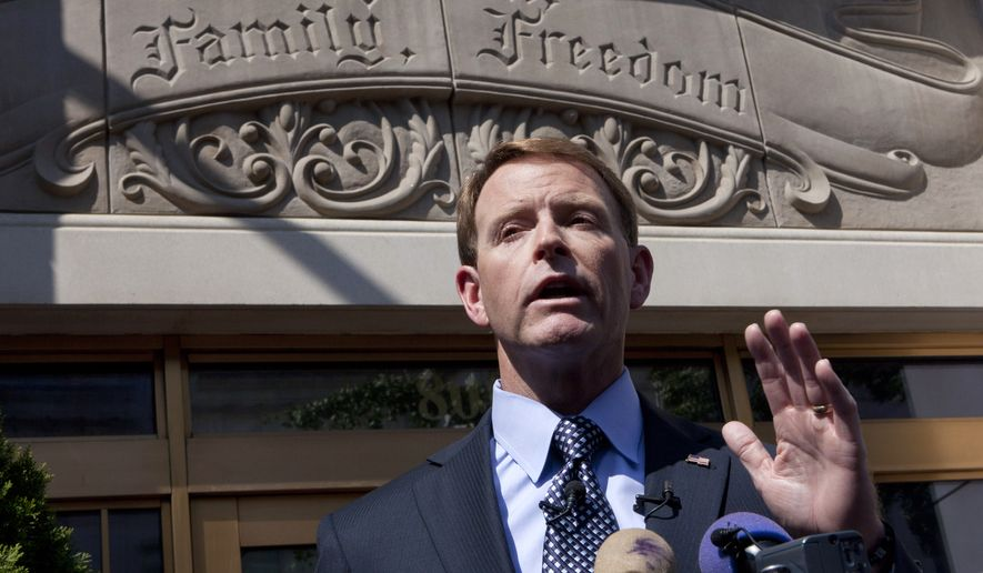 Tony Perkins, head of the Family Research Council, a leading Christian religious-conservative group, is shown in this file photo. (Associated Press) *FILE*