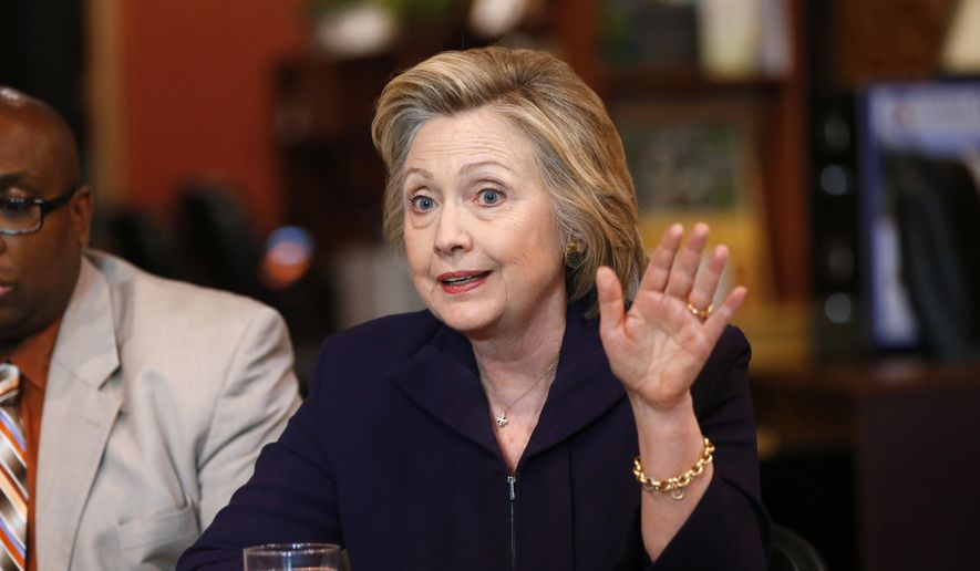 Democratic presidential candidate Hillary Clinton speaks at Williamson Health and Wellness Center in Williamson, W.Va., Monday, May 2, 2016. (AP Photo/Paul Sancya)