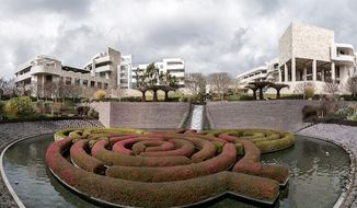 The Getty Center as seen from the garden in Los Angeles, California. (Wikipedia)