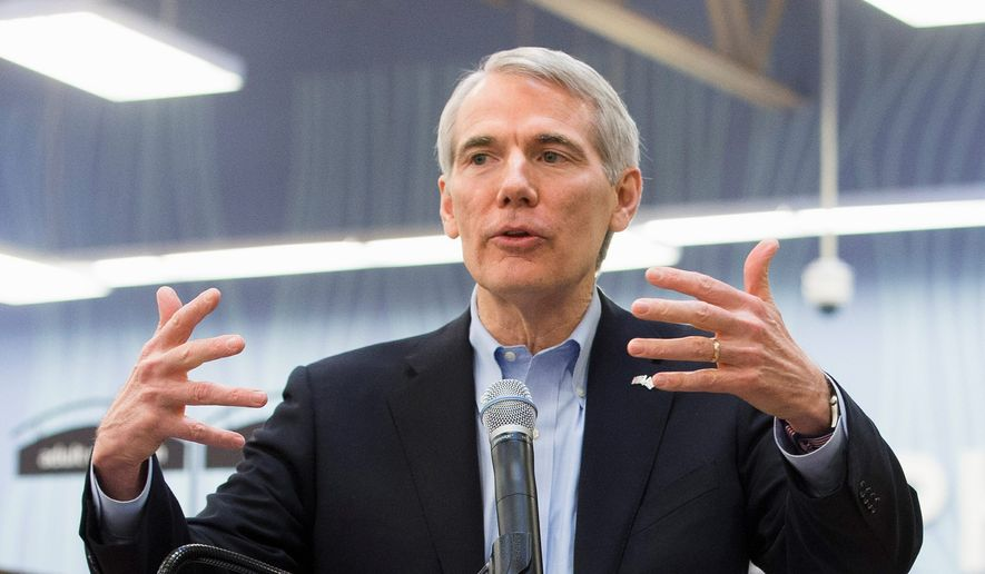 Sen. Rob Portman, Ohio Republican (Associated Press) **FILE**