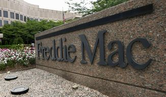 FILE - In this July 13, 2008, file photo, shows the Freddie Mac headquarters in McLean, Va. Freddie Mac reports financial results on Tuesday, May 3, 2016. (AP Photo/Pablo Martinez Monsivais, File)