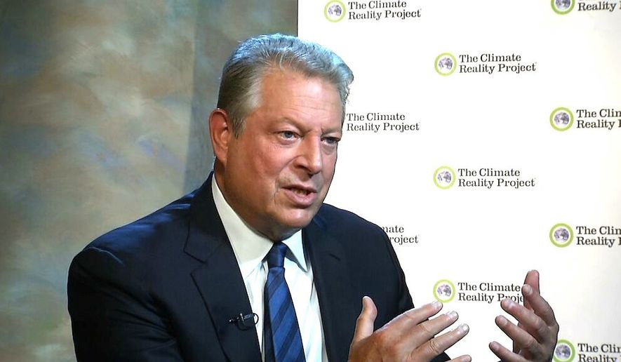 "Al Gore is among the ""global luminaries"" assembling in the nation's capital on Thursday for a massive climate change summit. (Associated Press)"