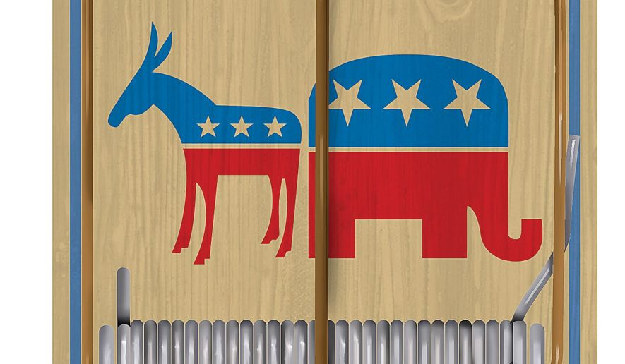 The Traps of the Presidential Race Illustration by Linas Garsys/The Washington Times