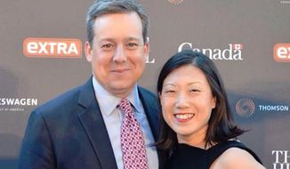 "Fox News senior White House correspondent Ed Henry is ""taking some time off"" following a report by In Touch Weekly alleging he had a 10-month extramarital affair with a Las Vegas hostess. (Facebook/@Shirley Hung Henry)"