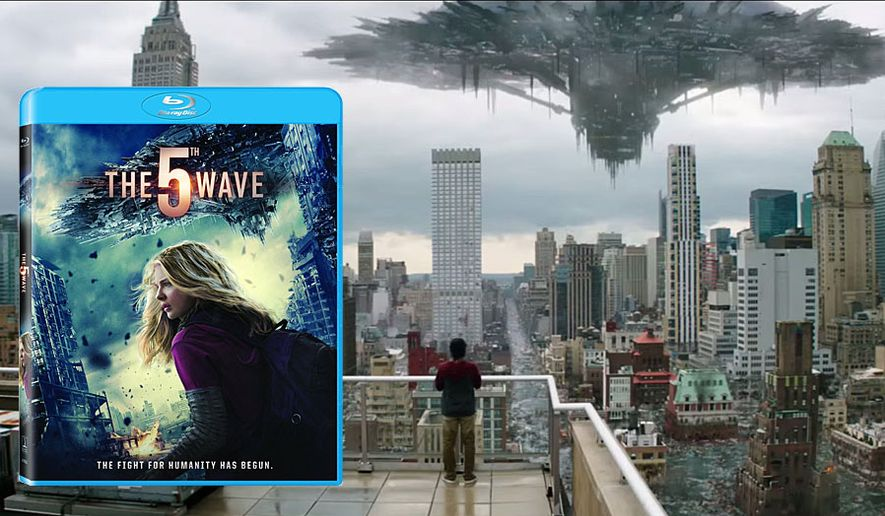 """An alien invasion threatens humanity in """"The 5th Wave,"""" now available on Blu-ray from Sony Pictures Home Entertainment."""