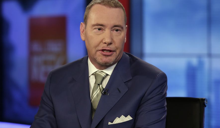 "DoubleLine CEO Jeffrey Gundlach is interviewed during a taping of the ""Wall Street Week"" program on the Fox Business Network, in New York, Thursday, May 5, 2016. (AP Photo/Richard Drew)"
