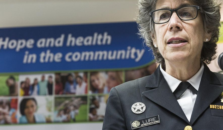 Department of Health & Human Services Assistant Secretary for Preparedness and Response, Dr. Nicole Lurie, speaks at a press conference, Thursday, May 5, 2016, at Genesee Health System in Flint, Mich. A $1 million construction grant was announced to help the health center expand its facilities. (Conor Ralph/The Flint Journal-MLive.com via AP) LOCAL TELEVISION OUT; LOCAL INTERNET OUT; MANDATORY CREDIT