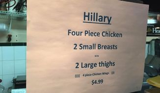 The New York Italian Deli in Brandywine, Maryland, is offering a Hillary Clinton special that is sure to turn some heads. (ABC7)